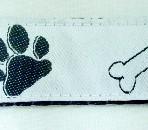 1QR555 Dog Paws on White