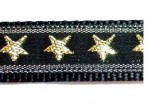 1ML754 Gold Metallic Stars on Black
