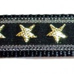 1ML754 Gold Metallic Stars on Black
