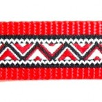 1ML760 Red, Black and White zig zag