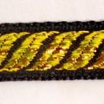 5ML185 Gold waves on black