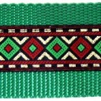 Diamonds of Green and Red Martingale Lead #527