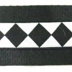 Diamonds in Black and White Martingale Lead #529