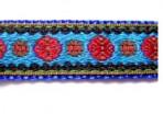 5ML518 Red Circles on Blue
