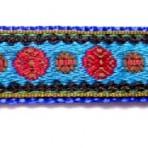 5MC518 Red Circles on blue