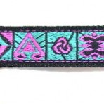 5ML759 Pink symbols on Turquoise