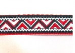 5ML760 Red and Black Zig Zag