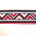 5MC760 Red and Black Zig Zag