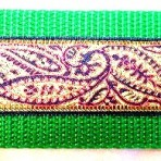 Green Paisley Martingale Lead #730
