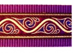 SLIP732 Metallic Gold Waves Edged in Purple