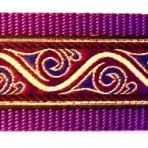 Metallic Gold Waves Edged in Purple Martingale Lead #732
