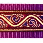 Metallic Gold Waves Edged in Purple Martingale Lead #732