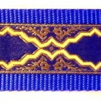 Gold Frames on Royal Blue Martingale Lead 733