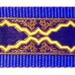 Gold Frames on Royal Blue Martingale Lead 733