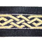 Gold and Black Celtic Martingale Lead #740