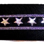 Silver Stars on Black Martingale Lead #753