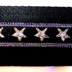 Sparkley Gold Stars Martingale Lead #754