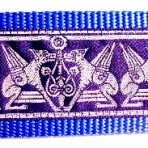 Medieval Griffons on Blue Martingale Lead #765