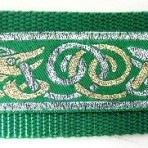 Gold and Silver Beasts Shapes on Green Martingale Lead #774