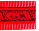 SLIP775 Red Stylized Dog Shapes on Black