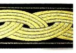 SLIP782 Gold Bands on Black