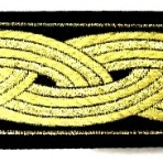 Gold Bands on Black Martingale Lead #782