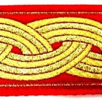 SLIP783 Gold Bands on Red