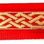 Celtic Knot on Red Martingale Lead #788