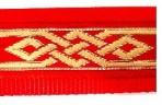 SLIP788 Celtic Knot on Red