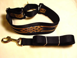 wide martingale collar and lead