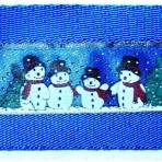 2MC937 Snowmen on blue