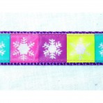1MC923 Flocked Snowflakes in Squares