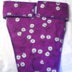 EP6004 Deep Purple Flannel Panty Dotted With Bicycles