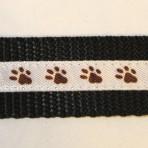 1MC238 Chocolate Dog Paws on White