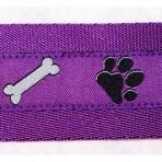 2MC571 Dog Paws and Bones on Purple