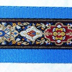 2MC819 Tapestry With Burgundy and Blue Accents