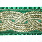 2MC824 Gold Bands on Green