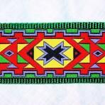 2MC827 Aztec Geometric with Green, Orange, Yellow and Purple
