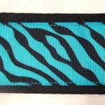 2MC833 Zebra Stripes On Turquoise