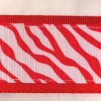 2MC835 Red Zebra Stripes on White