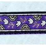 5MC214 Tiny Metallic Tulips on Purple