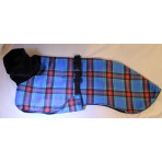 C3055 Royal Blue Plaid Minky Whippet Coat
