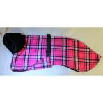 C3056 Vibrant Pink Plaid Minky Whippet Coat