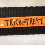 1MC317 Orange Trick or Treat Halloween Martingale Collar