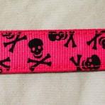 5MC311 Skulls on Hot Pink