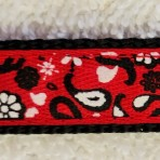 5ML248 Red Bandanna Puppy or Toy Breed Martingale Lead