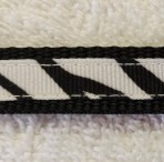 5ML251 Traditional Zebra Print Pupp or Toy Breed Martingale Lead