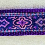 1MC596 Pink Tapestry on Purple Martingale Collar
