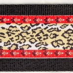 2LMC838 Cheetah Pattern Large Breed Martingale Collar