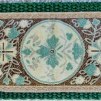 SLIP849 Cream, Brown and Turquoise Tapestry Slip Lead